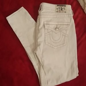 True religion size 31 skinny jeans
